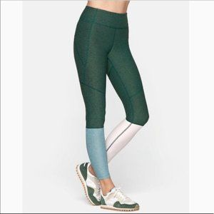 Outdoor voices dip green blue pink leggings